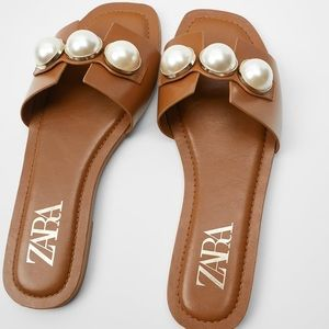 Zara Sandals with Pearls